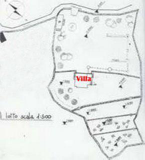 planimetria villa e terreno.