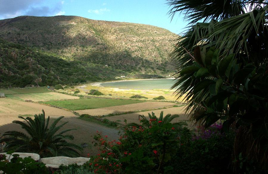 La vista dalla terrazza.