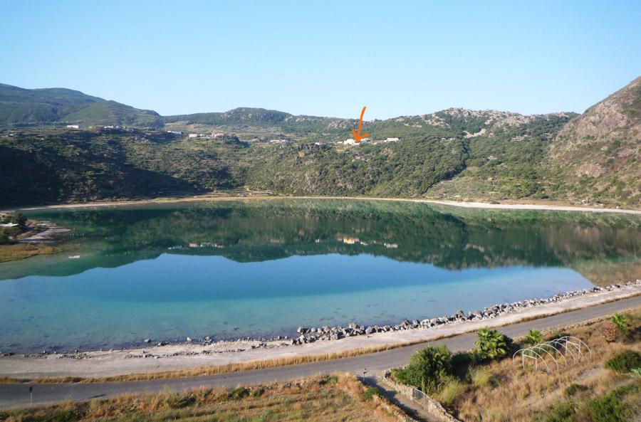 Posizione della casa vista dal lago